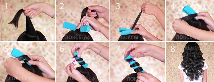 Как сделать бигуди своими руками видео