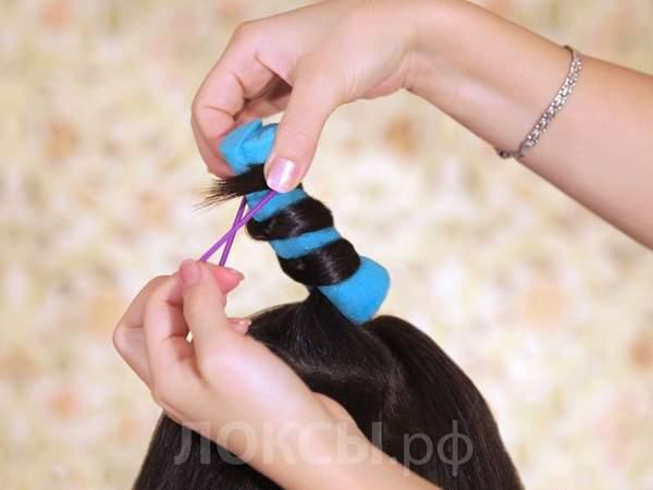 Как сделать кудри на резинке